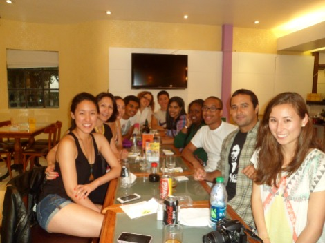 Welcome Dinner, with another Daniel, Celia, and Lívia!
