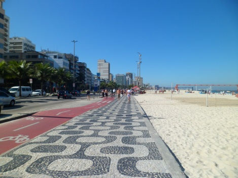 Avenida Atlantica, famous tiled street along the beach!