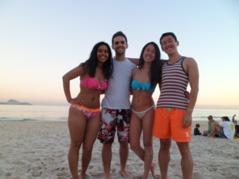 On the beach with Dudu and program peeps