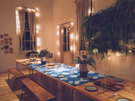 Aged wood, rustic handmade ceramics, and sparkling lights always set the scene just right.