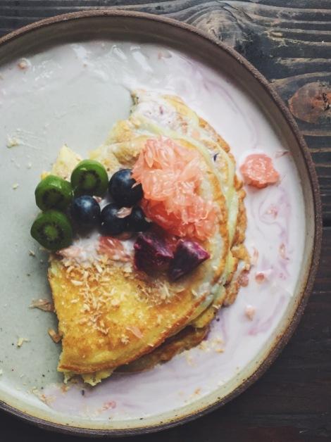 Filipino Bibingka Pancakes